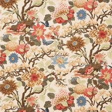 Biscuit/Sand Botanical Decorator Fabric by G P & J Baker