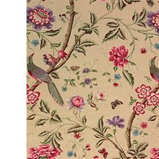 Mauve/Cream Print Decorator Fabric by G P & J Baker