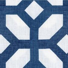 Blue/White Geometric Decorator Fabric by Kravet