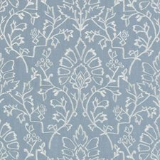 Blue Damask Decorator Fabric by Duralee