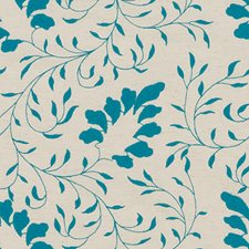 Teal Embroidery Decorator Fabric by Duralee