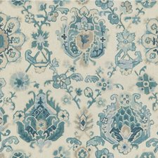 Aquamarine Botanical Decorator Fabric by Kravet