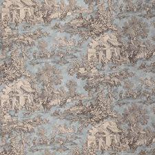 Beige/Light Green/Brown Toile Decorator Fabric by Kravet