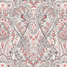 Red Paisley Decorator Fabric by Duralee