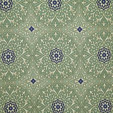 Aqua Damask Decorator Fabric by Pindler