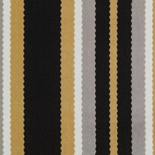 Black/Gold Stripe Decorator Fabric by Duralee