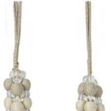 Tassel Tieback-Single Silver Moon Trim by Kravet