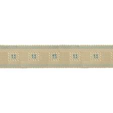 Cream/Blue Decorator Fabric by Scalamandre
