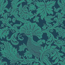 Midnight/Jade Print Wallcovering by Cole & Son Wallpaper