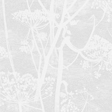White Botanical Wallcovering by Cole & Son