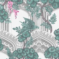 Teal/Pink Print Wallcovering by Cole & Son Wallpaper