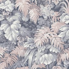 Slate Blue/Blush Pink Botanical Wallcovering by Cole & Son Wallpaper