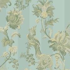 Duck Egg/Olive Print Wallcovering by Cole & Son Wallpaper