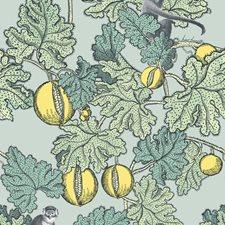 Seafoam/Lemon Print Wallcovering by Cole & Son Wallpaper