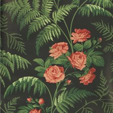 Red/L Green/Charcoal Print Wallcovering by Cole & Son Wallpaper