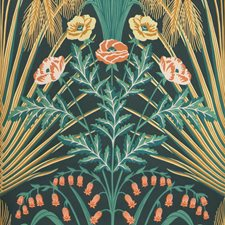 Teal/Gold/Petrol Print Wallcovering by Cole & Son Wallpaper