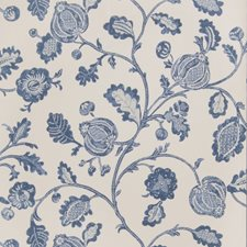 Indigo Floral Wallcovering by Fabricut Wallpaper