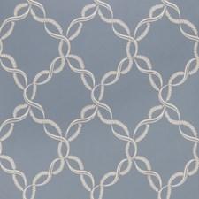 Bleu Scrollwork Wallcovering by Fabricut Wallpaper