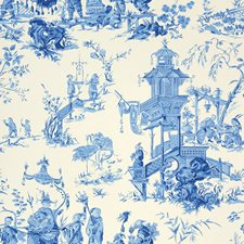 China Blue Wallcovering by Schumacher Wallpaper