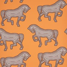 Orange Wallcovering by Schumacher Wallpaper