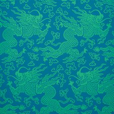 Peacock Wallcovering by Schumacher Wallpaper