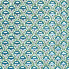 Green/Peacock Wallcovering by Schumacher Wallpaper