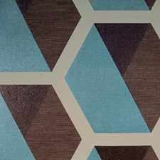 Blue/Brown/Taupe Transitional Wallcovering by JF Wallpapers