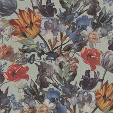 Blue/Multi Traditional Wallcovering by JF Wallpapers