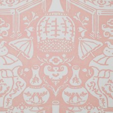 Pink Wallcovering by Clarence House Wallpaper