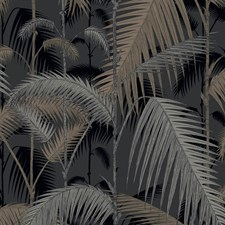 Silver/Black Botanical Wallcovering by Cole & Son Wallpaper