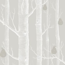Grey/Wht/Slvr Botanical Wallcovering by Cole & Son Wallpaper