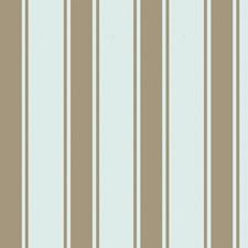 Aqua/Gilver Stripes Wallcovering by Cole & Son Wallpaper