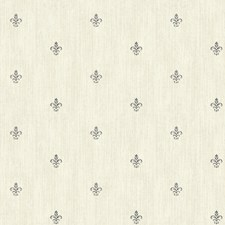 Cream/Beige/Gray Fleur De Lis Wallcovering by York