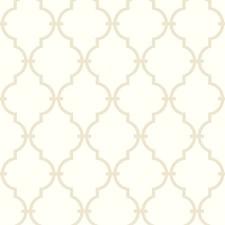 Warm White/Tan Trellis Wallcovering by York