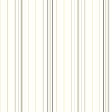 White/Charcoal Grey/Steel Grey Stripes Wallcovering by York