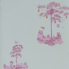Sunrise Pink Novelty Wallcovering by Andrew Martin Wallpaper