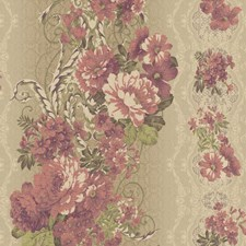 Beige/Gold/Cream Floral Medium Wallcovering by York