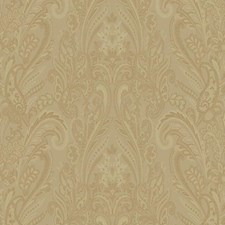 Gold Paisley Wallcovering by York