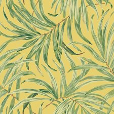 Bright Yellow/Pale to Dark Green/Tan Botanical Wallcovering by York