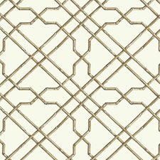 White/Tan/Brown Geometrics Wallcovering by York