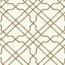 White/Tan/Brown Geometrics Wallcovering by York