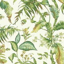 White/Yellow/Green Botanical Wallcovering by York