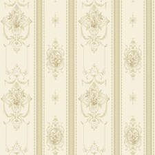 Off White/Tan/Cream Floral Wallcovering by York