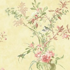 Yellow/Aqua/Peach Animals Wallcovering by York