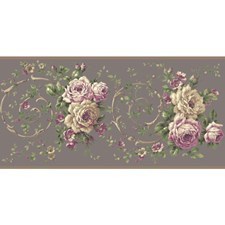 BA4621B Rose Scroll Border by York