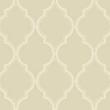 Beige/Cream Trellis Wallcovering by York