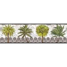 Black/White/Green Botanical Wallcovering by York