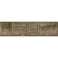 Brown/Green Animals Wallcovering by York