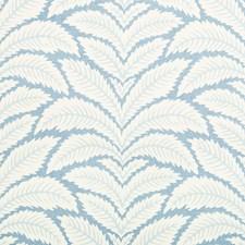 Blue Botanical Wallcovering by Brunschwig & Fils