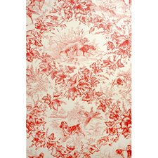 Red Animal Wallcovering by Brunschwig & Fils